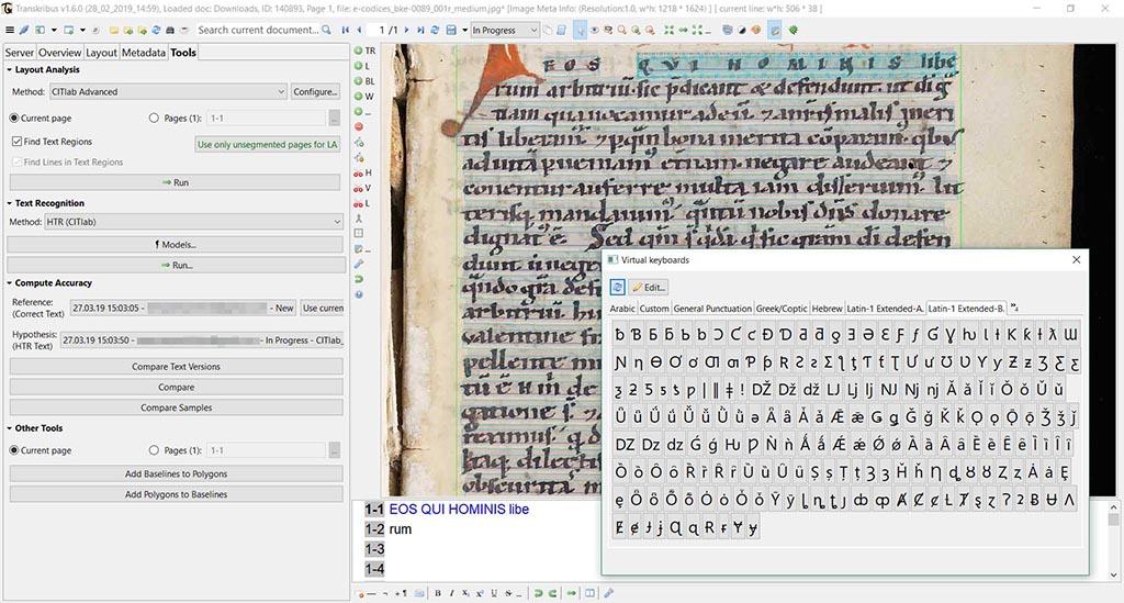 Trascrizione manoscritti con Transkribus