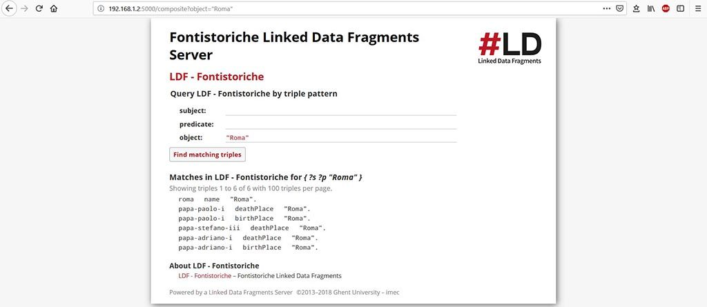 Linked Data Fragments Server - Oggetto