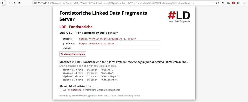 Linked Data Fragments Server - Soggetto Predicato