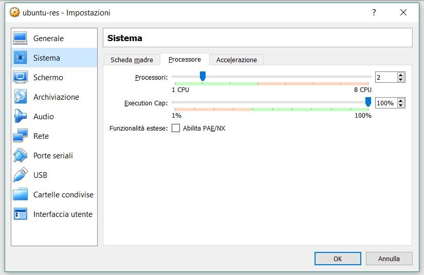 Macchina Virtuale, configurazione, step 4