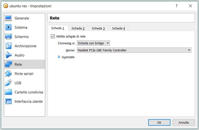 Macchina Virtuale, configurazione, step 5
