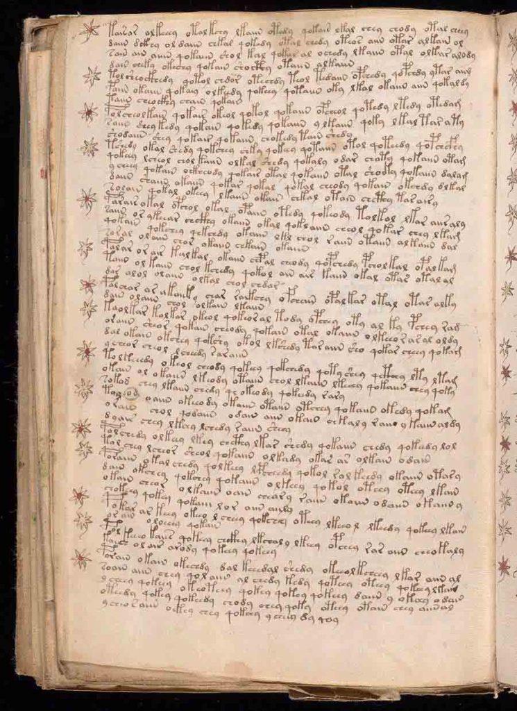 Manoscritto di Voynich caratteri