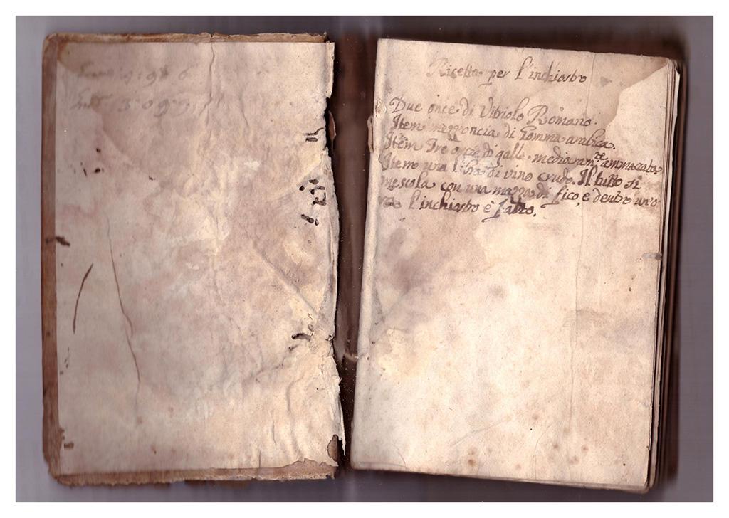 Ricetta inchiostro ferrogallico 1763